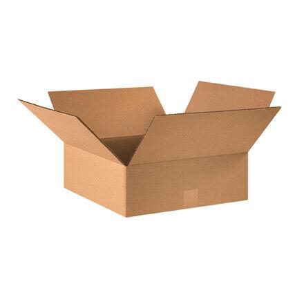 """16 x 16 x 5"""" Flat Corrugated Boxes - 25 Per Bundle"""
