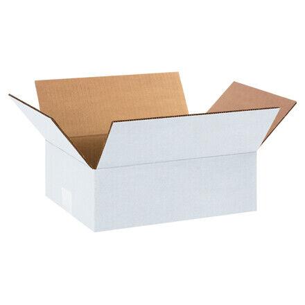 """12 x 9 x 4"""" White Corrugated Boxes - 25 Per Bundle"""