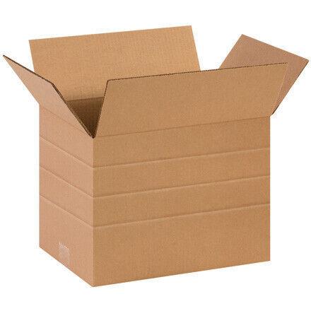 "14 x 10 x 10"" Multi-Depth Corrugated Boxes - 25 Per Bundle"