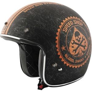 CASQUE NEUF 3/4 aux couleurs HARLEY