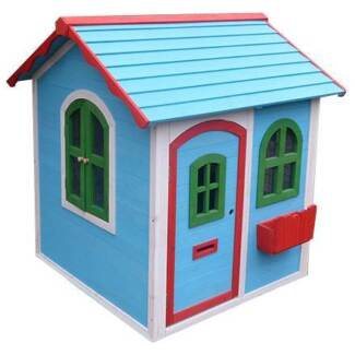 Indoor or Outdoor Small Wooden Cubby House for Play Room