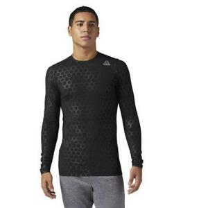 Reebok Men's Hexawarm Compression Long Sleeve Tee