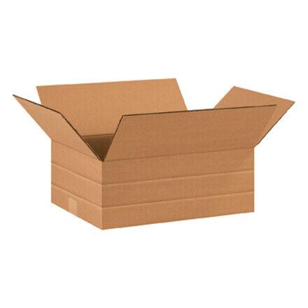"16 x 12 x 6"" Multi-Depth Corrugated Boxes - 25 Per Bundle"