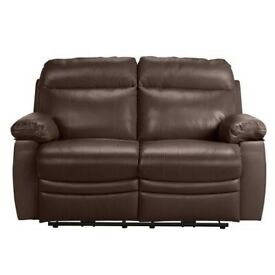 Brand new 2 seater sofa in brown leather