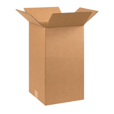 "10 x 10 x 18"" Tall Corrugated Boxes - 25 Per Bundle"