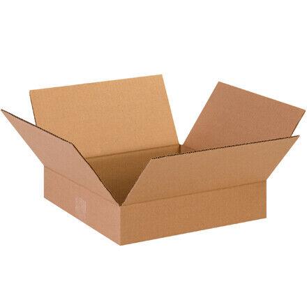 """13 x 13 x 3"""" Flat Corrugated Boxes - 25 Per Bundle"""