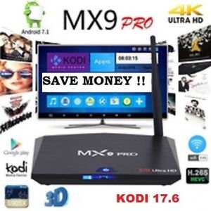MX9 PRO Android Box Live Tv Movies Sport UFC Shows Pay Per View