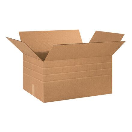 "24 x 16 x 12"" Multi-Depth Corrugated Boxes - 15 Per Bundle"