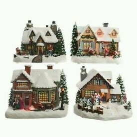 Set of 4 Christmas buildings
