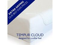 BRAND NEW EX DISPLAY TEMPUR CLOUD DELUXE 22 kingsize mattress LAST 2 AVAILABLE MASSIVE SALE