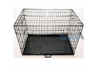 brand new Ellie-Bo Dog Puppy Cage Folding 2 Door Crate with Non-Chew Metal Tray Large 36-inch Black
