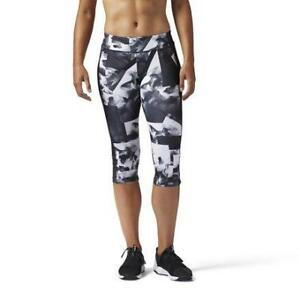 Reebok Women's Workout Ready Smoke Print Capri