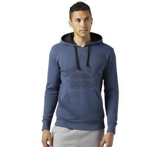 Reebok Men's Workout Ready Big Logo Cotton Poly Hoodie