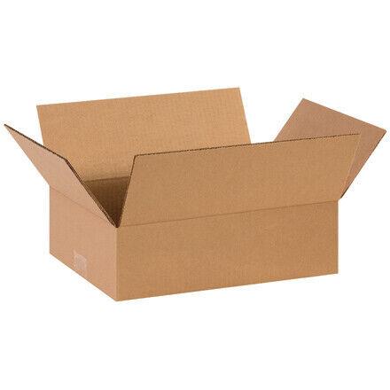 """14 x 8 x 4"""" Flat Corrugated Boxes - 25 Per Bundle"""