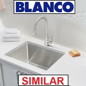 NEW BLANCO PULL DOWN KITCHEN FAUCET 442206 148446421 ATURA 2GPF STAINLESS  STEEL