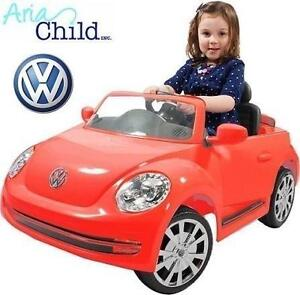 NEW* ARIA VW BEETLE RIDE-ON TOY RED - VEHICLE BATTERY CAR 6V  RIDE ON - ARIA CHILD - KIDS 103427945