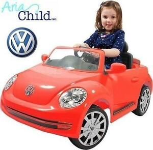NEW ARIA VW BEETLE RIDE-ON TOY - 104960426 - RED 6V BATTERY CAR RIDE ON - ARIA CHILD - KIDS