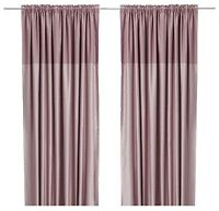 Two panels pastel pink rose color ikea drapes like new