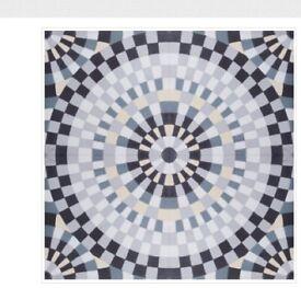Cement encaustic floor tiles, hand-made