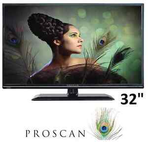 """Proscan 32"""" led tv for parts or repair"""