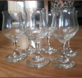 Set of 6 vodka shot glasses
