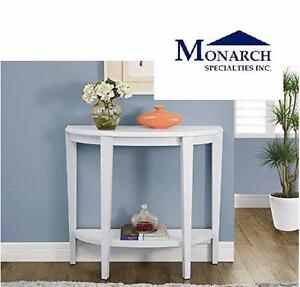 "NEW MONARCH 36"" CONSOLE HALL TABLE   Monarch Specialties 36"" White Hall Console Accent Table HOME FURNITURE 98798958"