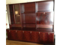 Mahogany Meredev Sideboard/Display Cabinet/Wall Unit/Solid Wood