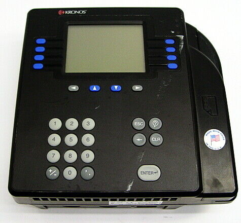 Kronos 4500 Time Clock Badge Reader Terminal, 8602000-001
