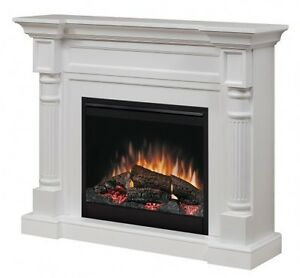 Winston White Electric Fireplace & Mantel