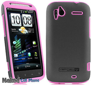 PINK-GRAY-NAZTECH-VERTEX-HARD-SOFT-SKIN-CASE-COVER-FOR-TMOBILE-HTC-SENSATION-4G