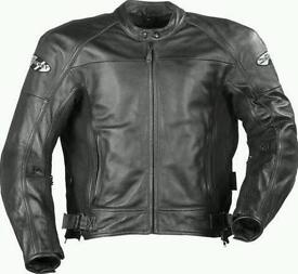 Leather motorbike jacket