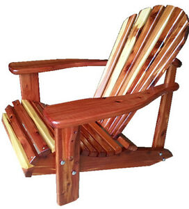 Solid cedar wood Adironack chair kit for patio,garden,cottage