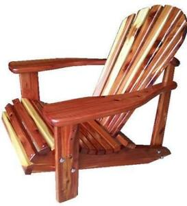 Heavy duty aromatic red cedar solid wood patio deck porch chairs - Free Shipping