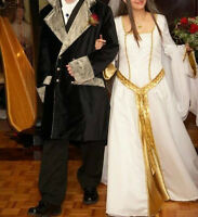 Wedding Dress -LOTR & medieval, accessories,groom suit and capes