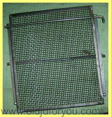 John Deere A Ar And Ao Radiator Guard Assembly With Canvas Curtain - Aa431r