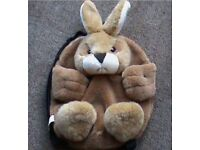 furry rabbit back pack brand new £3