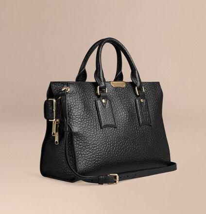 Burberry Ladies Designer Handbag - THE MEDIUM CLIFTON IN SIGNATURE GRAIN  LEATHER ea0a70e5c3fc7