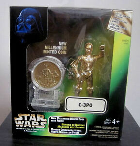 Star Wars Millenium Minted Coin Figures *Toys R Us Exclusives* Cambridge Kitchener Area image 2