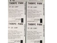 4x Thorpe Park Tickets valid UNTIL 02/11/16 (2nd Nov 2016) *including FRIGHT NIGHT* weekday/weekend