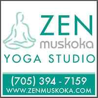 Zen Muskoka Yoga, the only downtown Bracebridge yoga studio!