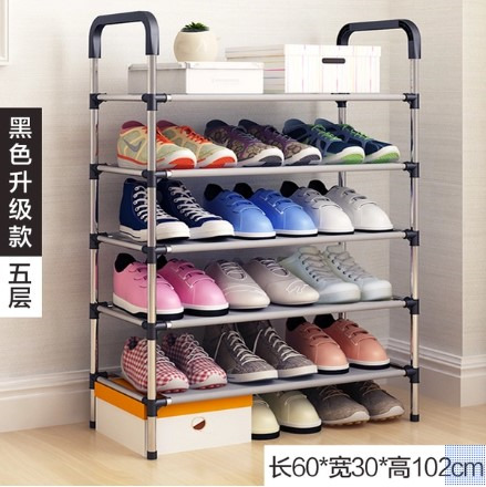 Home hall storage shoes rack assemble shelf - 5 Layers (Back by Popular Demand)