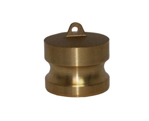 BRASS CAM LOCK FITTINGS - TYPE DP - 6 INCH DUST PLUG