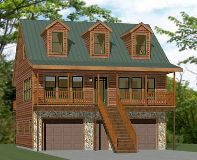 30X32 House    1 Bedroom 1 5 Bath    1 489 Sqft    Pdf Floor Plan    Model 3C