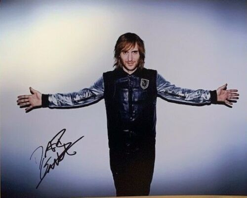 David Guetta Signed Auto 8x10 Photo PSA/DNA