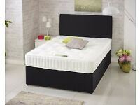 Double Bed 4ft6 Divan Bed & Mattress Free Headboard Free Delivery Order Today Deliver Today