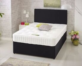 Divan Bed with Ortho Mattress, Headboard and Drawer Options
