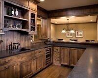 Custom cabinets and wood furniture