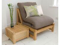 The Futon Company solid oak single sofa bed