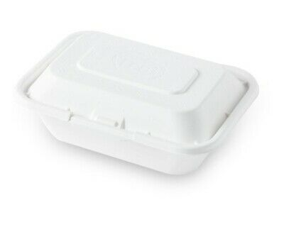 Eco Friendly Natural Fiber Food Container Togo Box with 50ct 600ml 001 ()