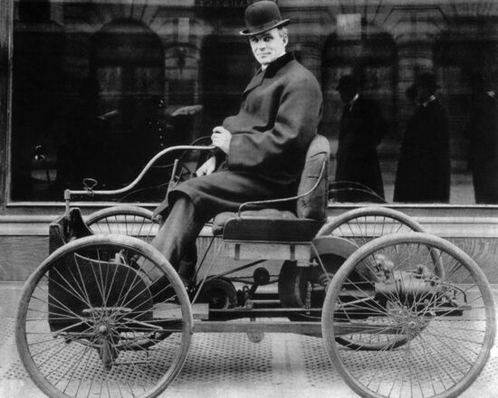 Inventor HENRY FORD 8x10 Photo First Car Print Glossy Quadricycle Poster